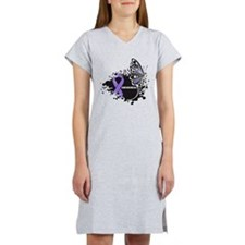Butterfly Hodgkin Lymphoma Women's Nightshirt