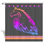 Rainbow Horse Design Shower Curtain