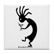 Kokopelli Martini Drinker Tile Coaster