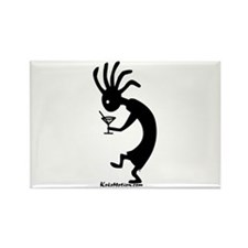 Kokopelli Martini Drinker Rectangle Magnet