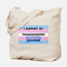 I support my Transgendered Grandpa Tote Bag