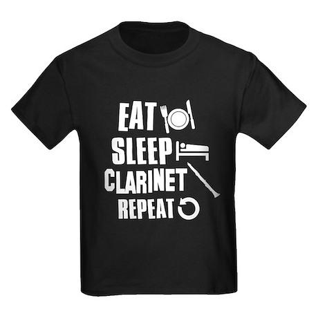 Eat Sleep Clarinet Kids Dark T-Shirt
