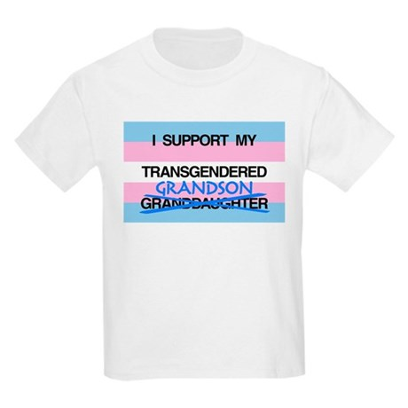 I support my Transgendered Grandson Kids Light T-S