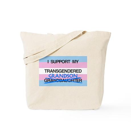 I support my Transgendered Grandson Tote Bag