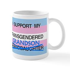 I support my Transgendered Grandson Mug