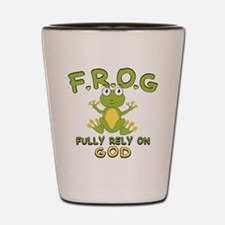Fully Rely On God Shot Glass