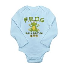 Fully Rely On God Long Sleeve Infant Bodysuit