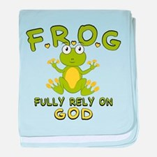 Fully Rely On God baby blanket
