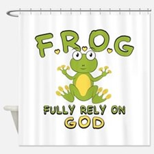 Fully Rely On God Shower Curtain