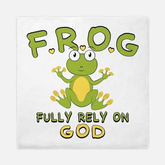 Fully Rely On God Queen Duvet