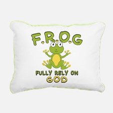 Fully Rely On God Rectangular Canvas Pillow