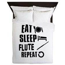 Eat Sleep Flute Queen Duvet