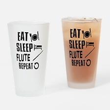 Eat Sleep Flute Drinking Glass