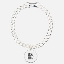 Eat Sleep Flute Charm Bracelet, One Charm