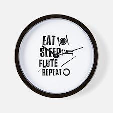 Eat Sleep Flute Wall Clock