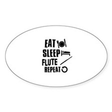 Eat Sleep Flute Decal