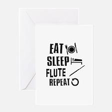 Eat Sleep Flute Greeting Card