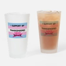 I support my Transgendered Neice Drinking Glass