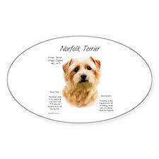 Norfolk Terrier Oval Decal