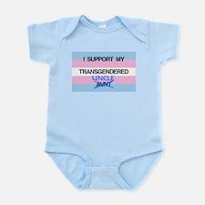 I support my Transgendered Uncle Infant Bodysuit