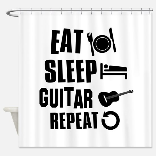 Eat Sleep Guitar Shower Curtain