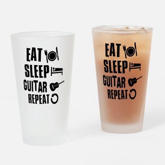 Eat Sleep Guitar Drinking Glass