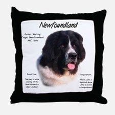 Landseer Newfoundland Throw Pillow