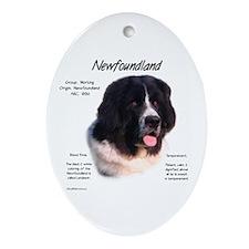 Landseer Newfoundland Oval Ornament