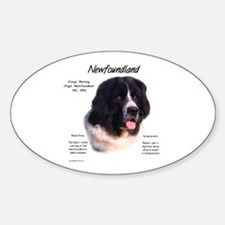 Landseer Newfoundland Oval Decal