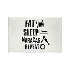 Eat Sleep Maracas Rectangle Magnet