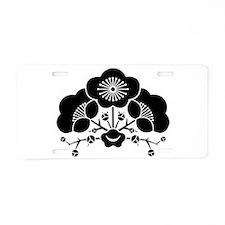 change flower ume Aluminum License Plate