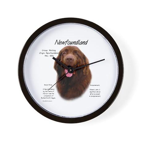 Brown Newfoundland Wall Clock