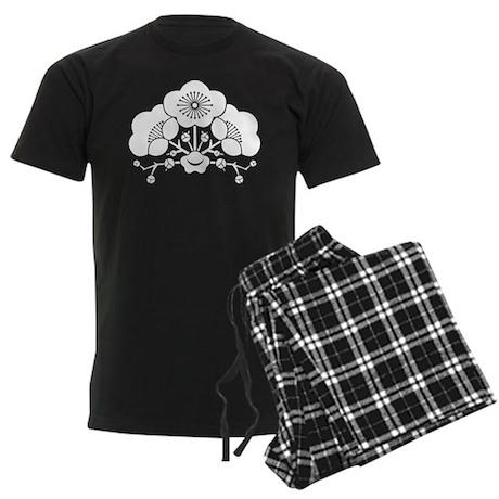 change flower ume Men's Dark Pajamas