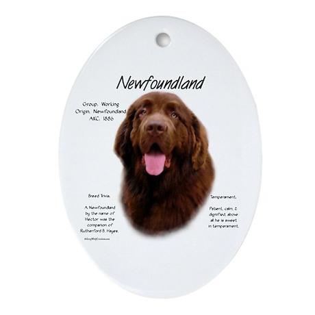 Brown Newfoundland Oval Ornament