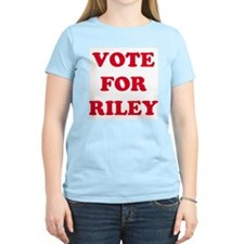VOTE FOR RILEY Women's Pink T-Shirt