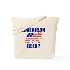 American Beer? Funny US Flag Bear Deer Tote Bag