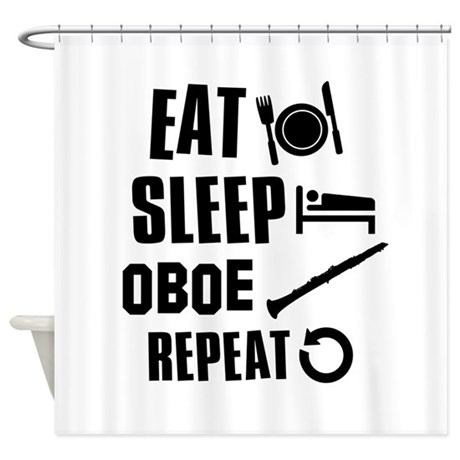Eat Sleep Oboe Shower Curtain