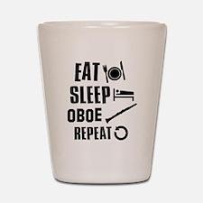 Eat Sleep Oboe Shot Glass