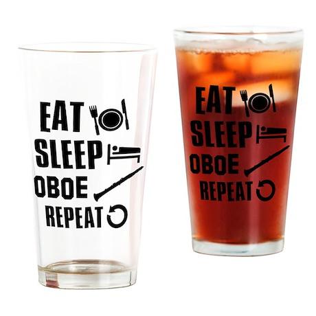 Eat Sleep Oboe Drinking Glass