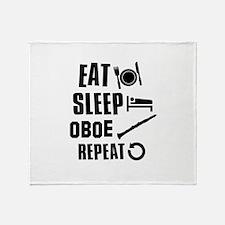 Eat Sleep Oboe Throw Blanket