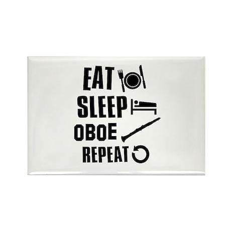 Eat Sleep Oboe Rectangle Magnet (100 pack)