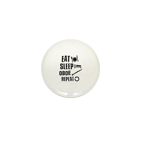Eat Sleep Oboe Mini Button