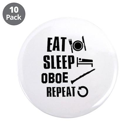 "Eat Sleep Oboe 3.5"" Button (10 pack)"