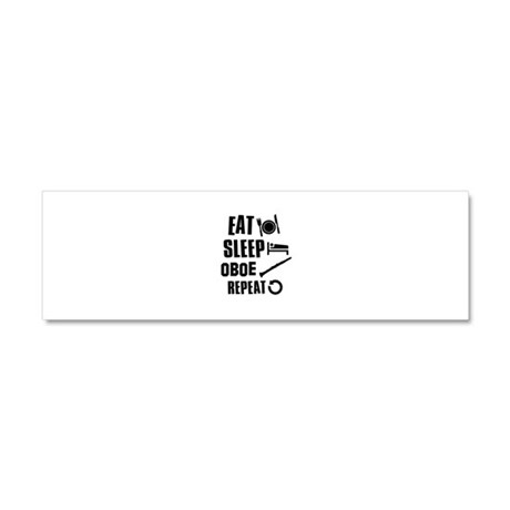 Eat Sleep Oboe Car Magnet 10 x 3