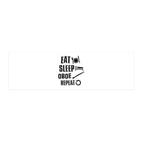 Eat Sleep Oboe 20x6 Wall Decal