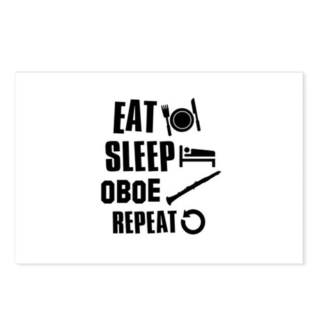 Eat Sleep Oboe Postcards (Package of 8)