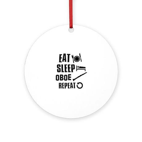 Eat Sleep Oboe Ornament (Round)