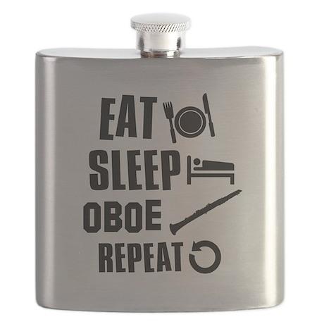 Eat Sleep Oboe Flask