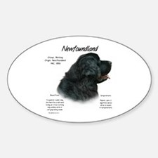 Black Newfoundland Oval Decal