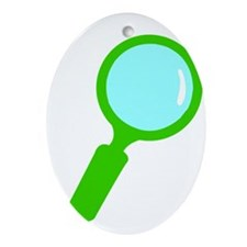 Magnifier 2 Ornament (Oval)